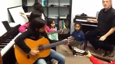 Sneak peak of our Piano and Guitar students practicing for their performance coming up on Dec 10, 2014 with Mr. Alvin an...