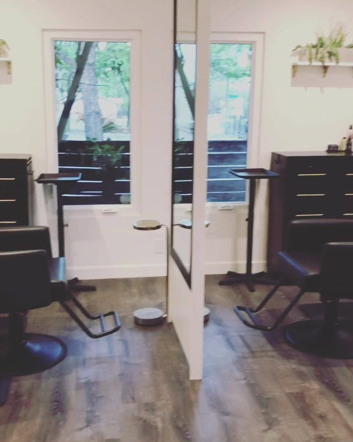 Preparing the salon for another busy week!