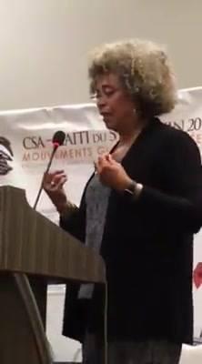 Angela Davis speaks at CSA conference, Haiti