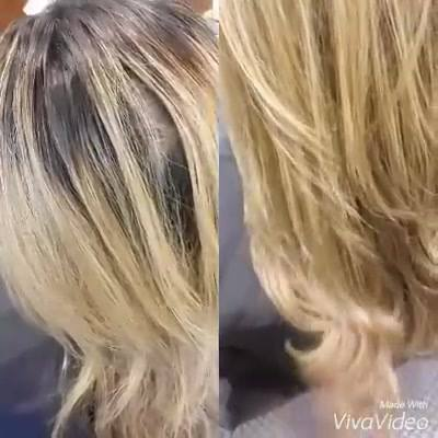Highlights, New growth and Keratin treatment.#hairbyjade