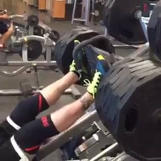 Here is the video of finishing the leg press, you can see my legs are fatigued... watch for the shake out. But, my coach...