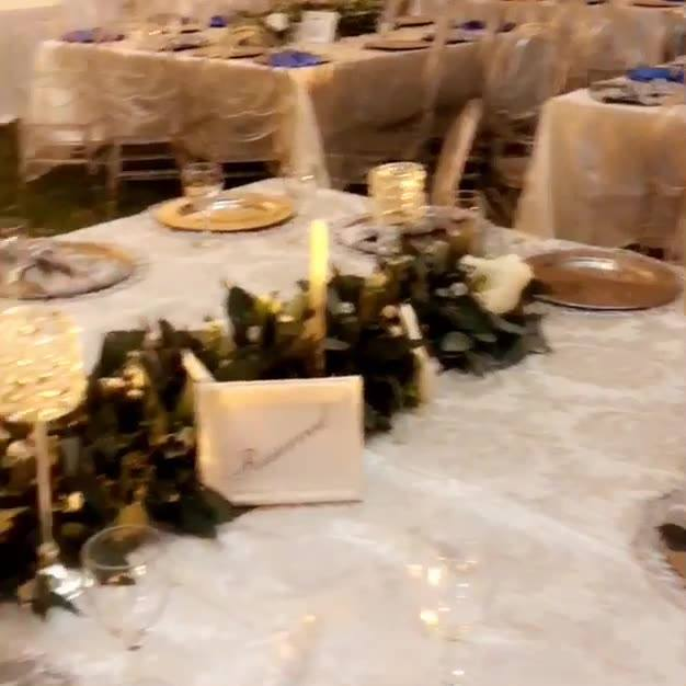 Getting ready for today's Wedding Decor done by us .