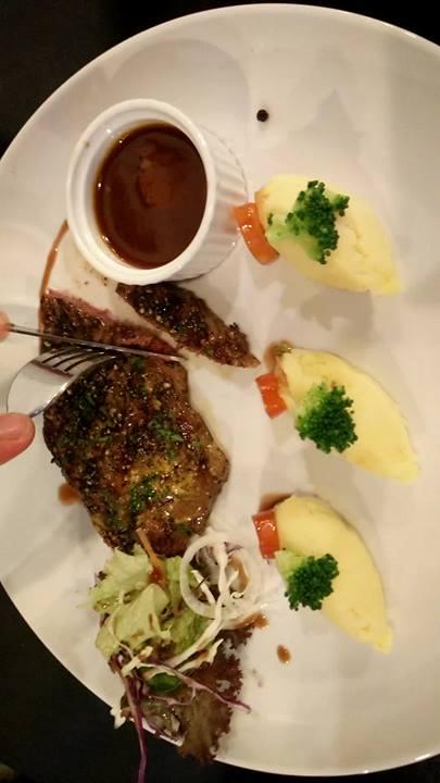 Grilled Pepper Medium Beef Steak
