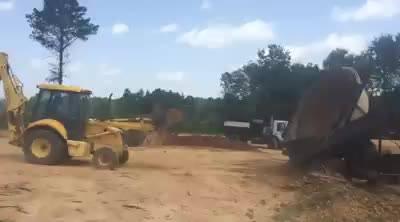 Screening a little top soil