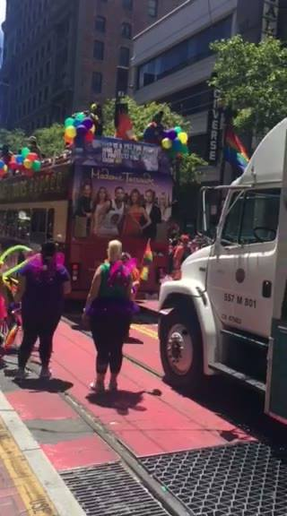 Supporting pride parade 2017,video. I want to say thank you to our team for coming out and supporting the Mammovan. Good...