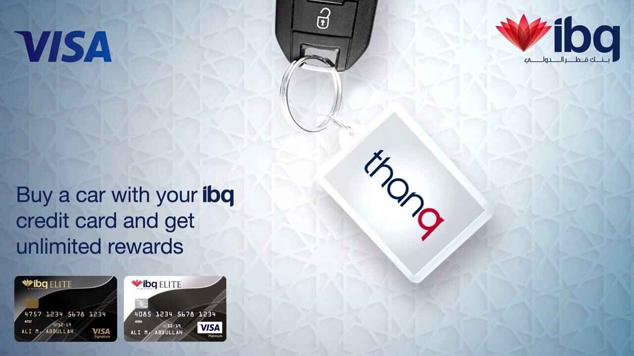Buy a car with your ibq credit card and get unlimited rewards