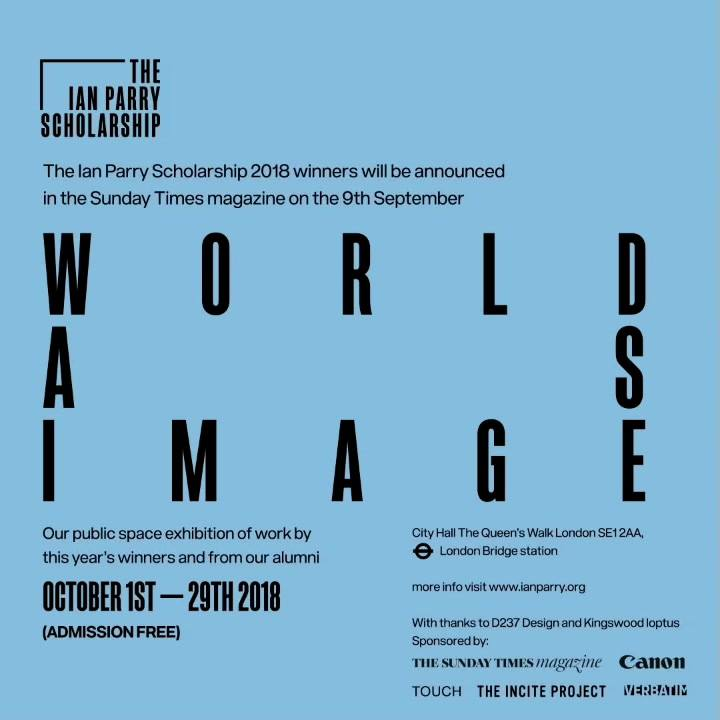 """I feel so honored to be taking part in the The Ian Parry Scholarship Exhibition named """"WORLD AS IMAGE"""" , which is going ..."""