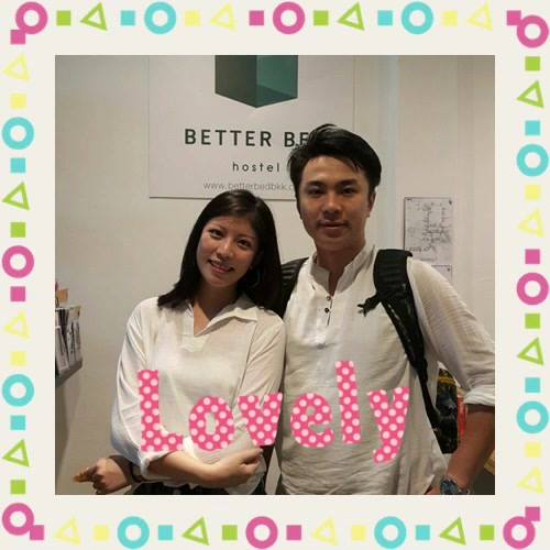 Thanks our lovely couple from China 🇨🇳 #betterbed #betterbedbkk #hostel #hostelbkk #hostelthailand #bedandbreakfast #bac...