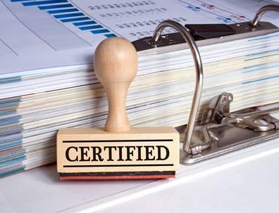 Certificate of inheritance