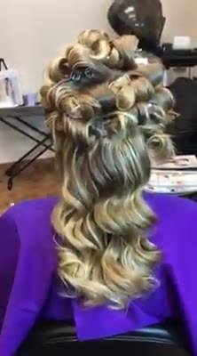 Behind the scenes,.  Creating Soft, sexy, Bouncy curls!!